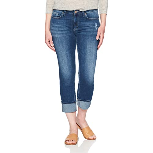 654cd639e0e8 Riders by Lee Indigo Women s Modern Collection Roll Cuff Straight Leg Denim  Cropped Jean