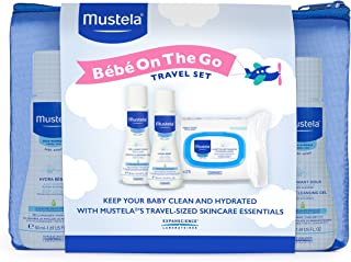 Mustela Bebe On the Go Gift Set, Baby Skin Care & Baby Bath Products, Travel Size, 3 Items