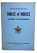 Simplified Scientific Tables of Houses Latitude, 0 to 66 Degrees
