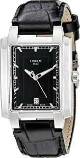 tissot Women's Black Dial Leather Band Watch - T061.310.16.051.00