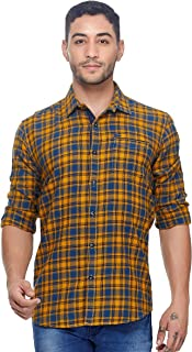 Twills Slimfit Checks Casual Shirt for Men