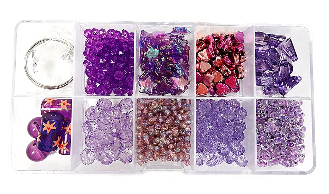 Linpeng Jewelry Making DIY Beads Set, Lavender