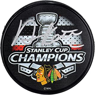 Duncan Keith Chicago Blackhawks 2015 Stanley Cup Champions Autographed 2015 Stanley Cup Champions Logo Hockey Puck - Fanatics Authentic Certified