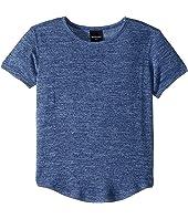 Extra Soft Short Sleeve Scalloped Bottom Landon Knit Tee (Toddler/Little Kids/Big Kids)