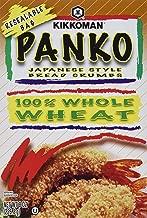 Kikkoman Panko Japanese Style Bread Crumbs Whole Wheat (Pack of 4)