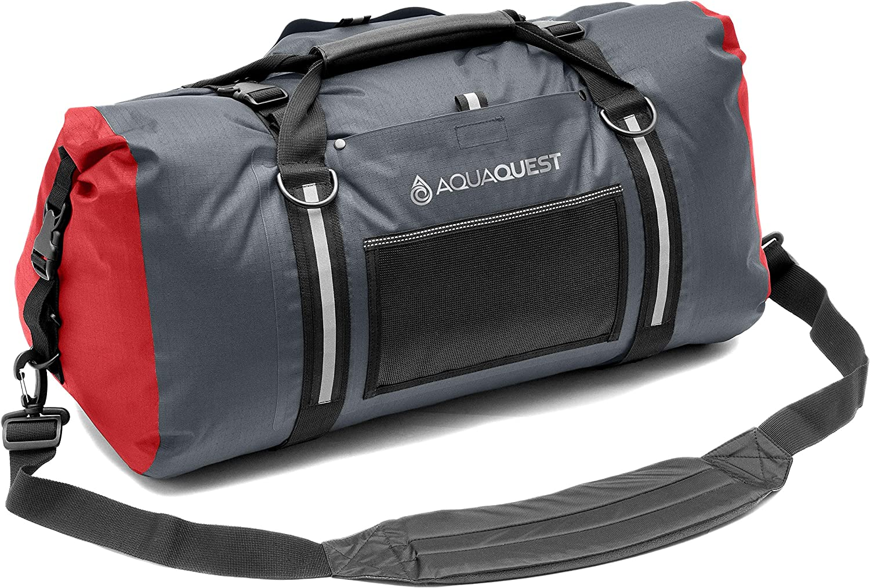 Gray or Camo Black 75L /& 100L Aqua Quest White Water Duffel Lightweight 100/% Waterproof Bag 50L Durable Charcoal External Pockets Red Blue