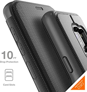 Gear4 Oxford Folio Case with Advanced Impact Protection by D3O, Compatible with Samsung Galaxy S9 – Black