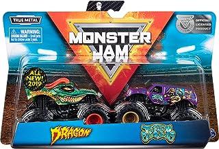 Monster Jam Autentyczne 2-pak, odlew z odlewu ciśnieniowego w skali 1:64 (w zależności od stylów)-losowy model