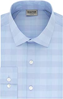 Men's Dress Shirt Slim Fit Technicole Stretch Check