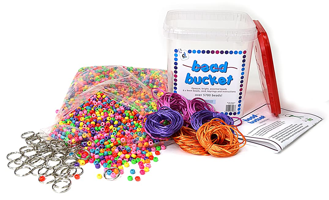Ci W1810967 5700 Beads and Accessories Opaque Bucket Set with Project Sheet, Multi-Colour
