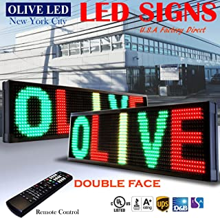 OLIVE LED Sign 3Color, RGY, 2Face, P26, 19