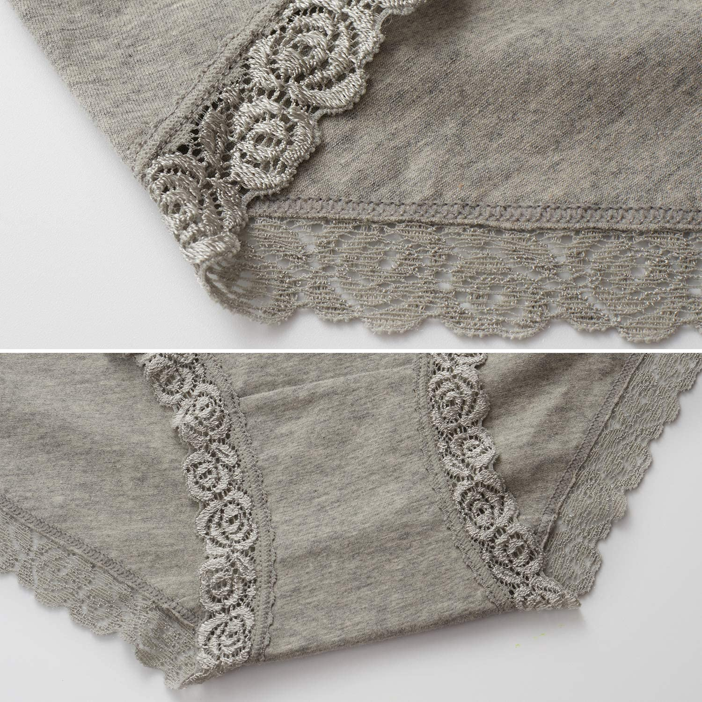 Womens Underwear No Muffin Top Full Coverage Cotton Underwear Briefs Soft Stretch Breathable Ladies Panties for Women