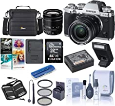 $1899 Get Fujifilm X-T3 26.1MP Mirrorless Camera with XF 18-55mm f/2.8-4 R LM OIS Lens, Silver - Bundle with Case, 32GB SDHC Card, 58mm Filter Kit, Cleaning Kit, Memory Wallet, Card Reader, PC Software Pack