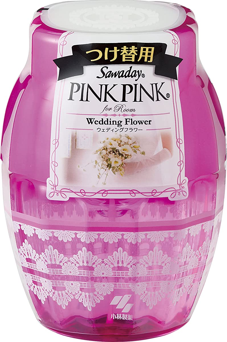 犯罪誰もアカデミックサワデーピンクピンク 消臭芳香剤 部屋用 詰め替え用 ウェディングフラワー 250ml