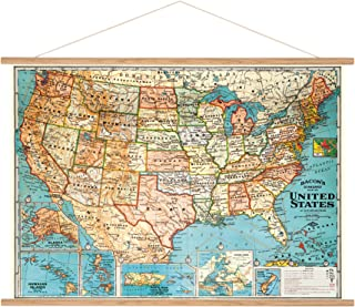Cavallini Papers & Co. Cavallini Vintage USA Map Hanging Poster