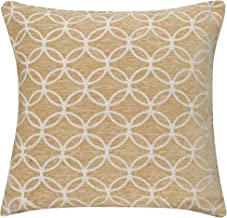 """Tampa Unfilled Optical Squares Cushion Cover Black//Beige 17/"""" x 17/"""" 43 x 43cm"""