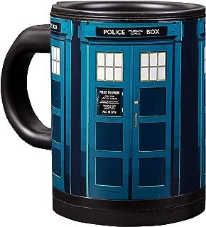 Doctor Who Tardis Self Stirring Travel Coffee Mug - Automatic Self Mixing & Spinning Cup - 12 oz