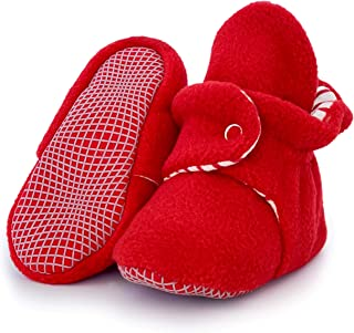 Soft Cozy and Colorful Baby Shoes 0-18 Months CONDA Baby Booties Girl /& Boy Infant Fleece Slippers 12 Colors