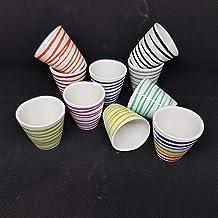 Vaso Decorativo Vaso in Vetro Piccolo Vaso in Vetro LUUK LIFESTYLE Set di Decorazione per provette Vaso in Legno in provetta Set di vasi Vaso da Fiori Design scandinavo Rotondo Mini