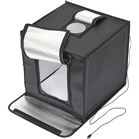 【Amazon.co.jp限定】 HAKUBA 撮影ボックス LEDスタジオボックス40 LEDライト 44×43×59cm 折りたたみ式 背景紙3色付き AMZLEDSBX