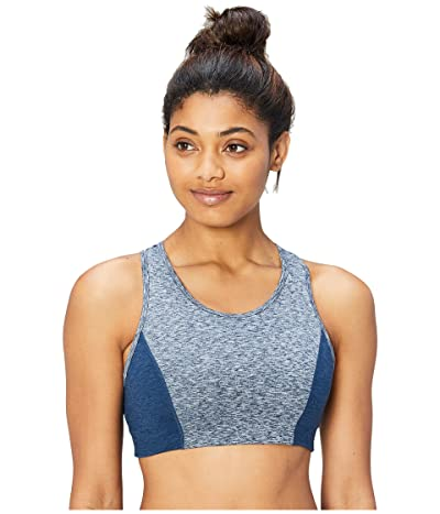 Core 10 Icon Series The Dare Devil Sports Bra (Navy Heather/Dark Navy Heather) Women