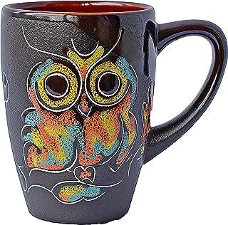 Pottery Coffee Mug Gift Idea «Owl» 13.3 oz