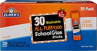 Elmer's Glue Stick (E599), Washable,30 Count