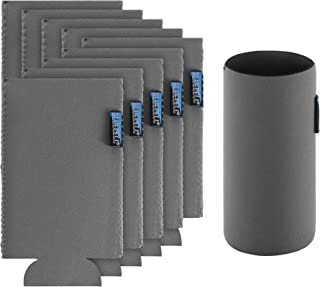 Bluecell 10pcs Gray Color Blank Neoprene Insulators Slim Can Cooler DIY Beer Sleeves Perfect For 12oz Slim Red Bull Michelob Ultra Spiked Seltzer Truly White Claw (Gray)