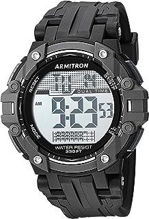 ساعة ارمترون سبورت للرجال 40/8429BLK رقمية كرونوغراف بسوار اسود من الراتنج