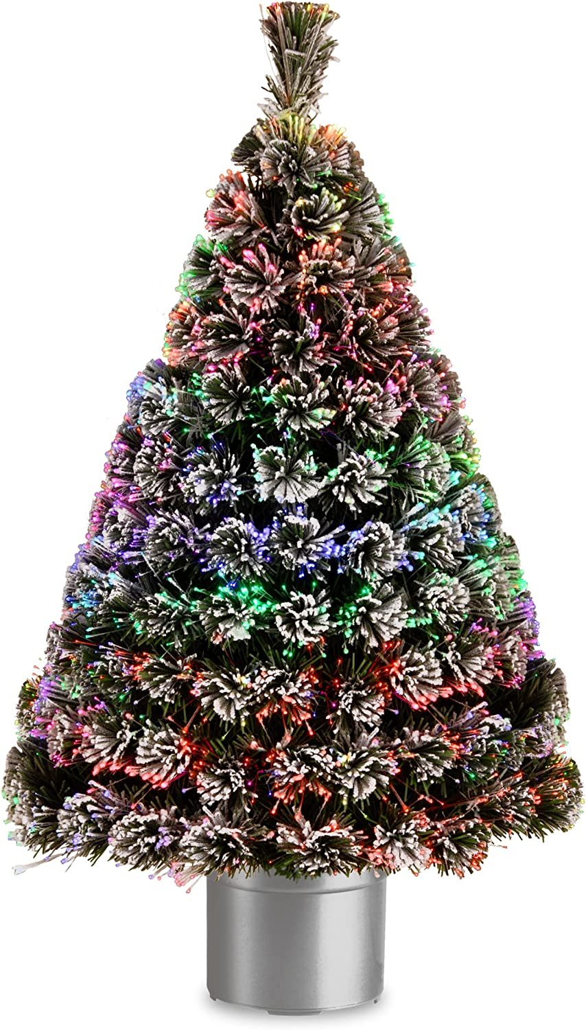 National Tree 48 security Inch Fiber Safety and trust Evergreen with Optic Flocked Mu