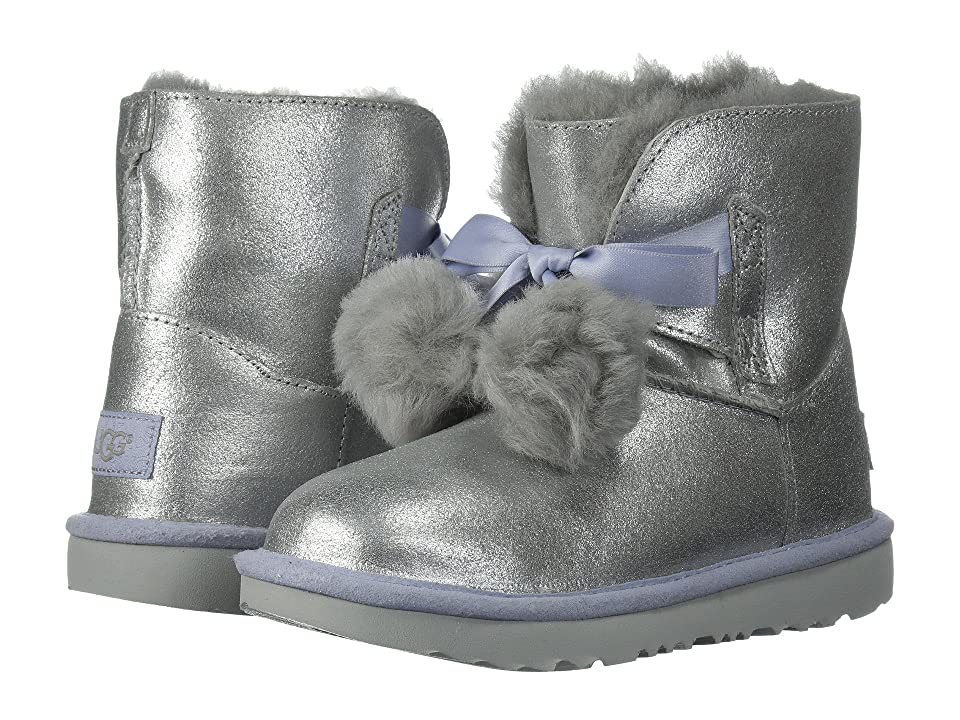 UGG Kids Gita Metallic (Little Kid/Big Kid) (Silver) Girls Shoes