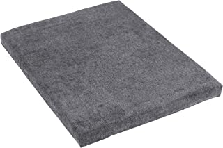 CASL Brands File Cabinet Cushion Seat Top for Mobile Pedestals, Magnetic Back, Gray