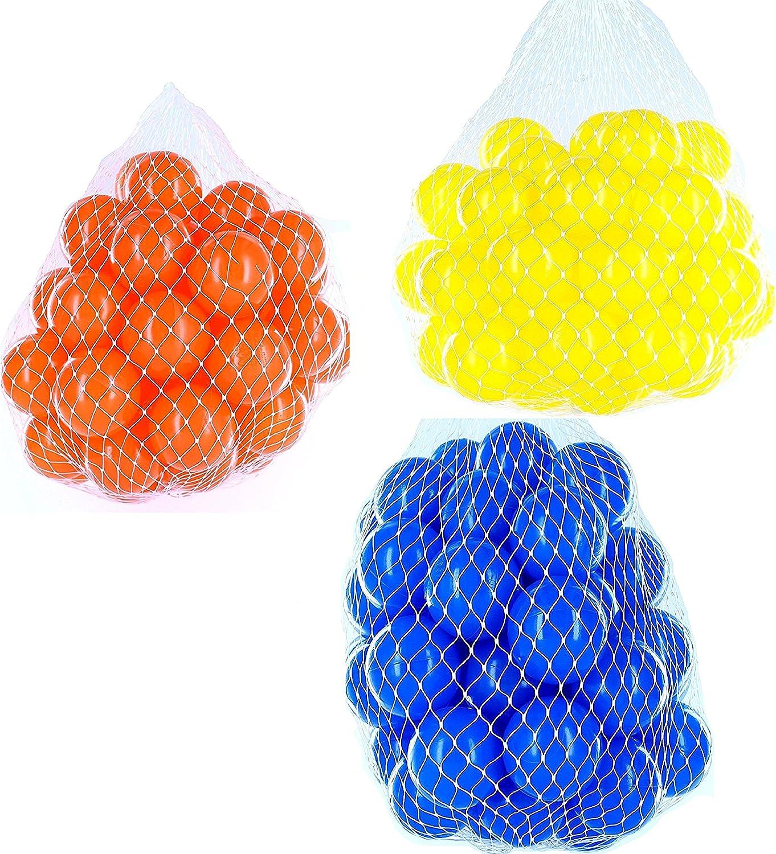 6000 Blle für Bllebad gemischt mix mit blau, gelb und Orange