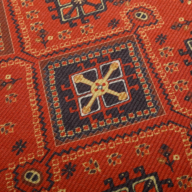 Geometric Kilim Rug Floor Carpet for Kitchen Bathroom Living Room Washable RoomTalks Vintage Turkish Small Area Rug 2x3 Persian Oriental Tribal Cotton Throw Rugs with Non-Slip Pad Orange, 2x3