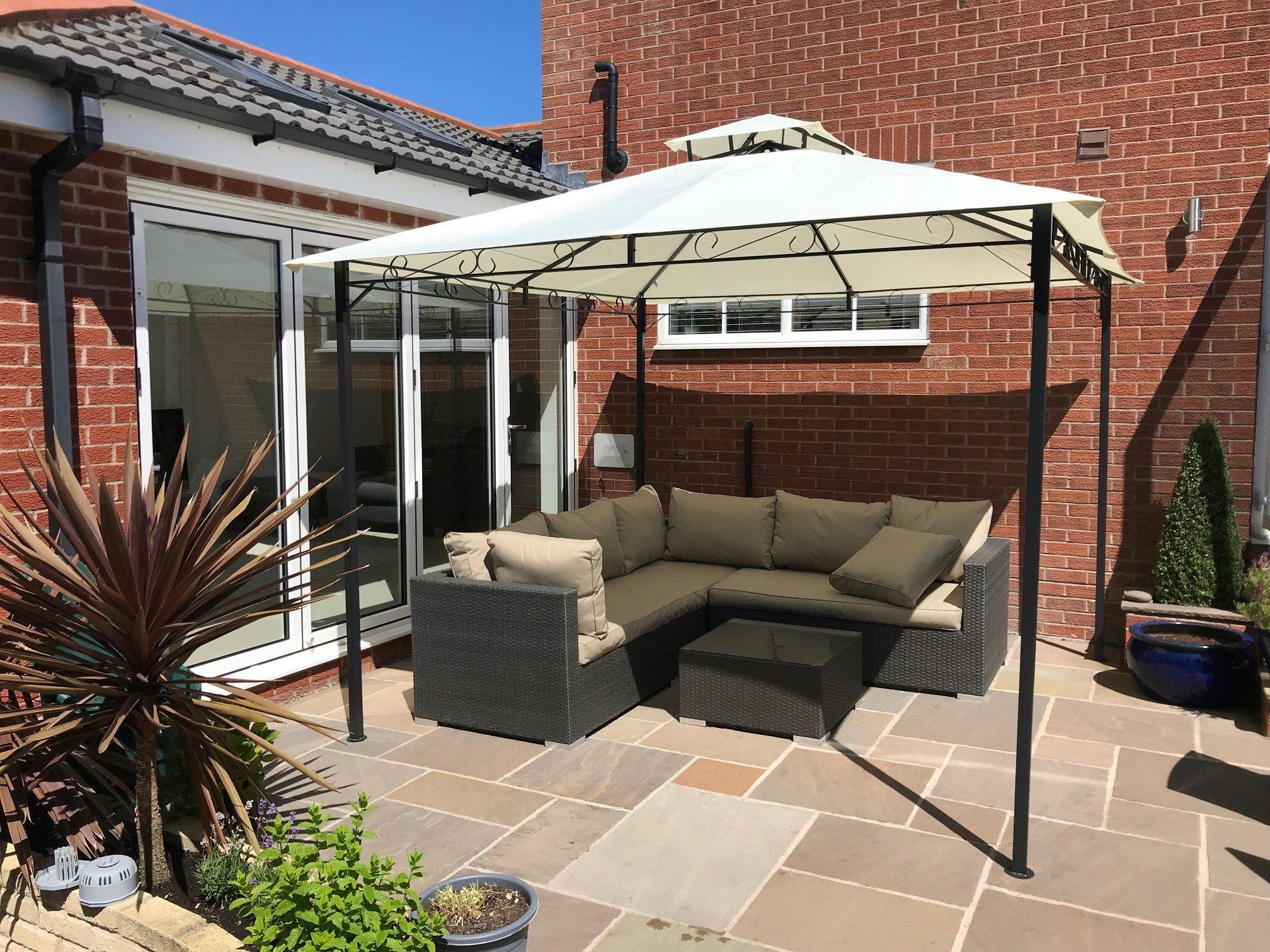 Garden Gazebo Ecru Party Shelter Patio Shade Outdoor Sun Canopy Stunning Design  sc 1 st  Amazon UK & Patio Canopy: Amazon.co.uk