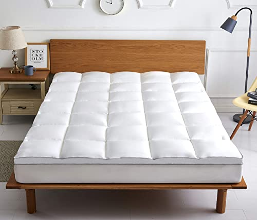 """COMFORT BOOST Extra Thick Mattress Topper. All Season Cooling Bed Topper. 400TC, Down Alternative Fill, 21"""" Deep Pocket (King)"""