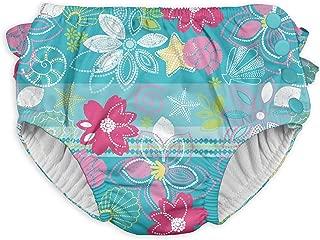Girls' Baby Ruffle Snap Reusable Swimsuit Diaper