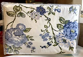 Waverly Blue Floral Flannel Sheet Set on Cream Background - Full Size (Cotton Flannel)