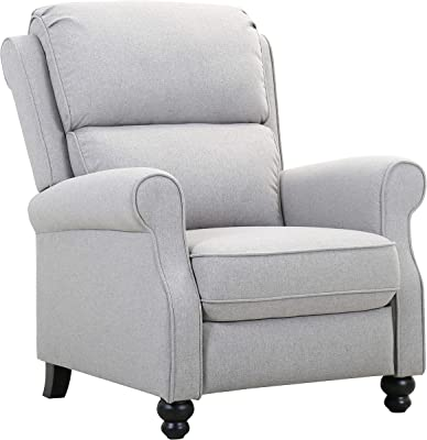 "Amazon Brand – Ravenna Home Push-Back Recliner Living Room Chair, 33.9""W, Light Grey"