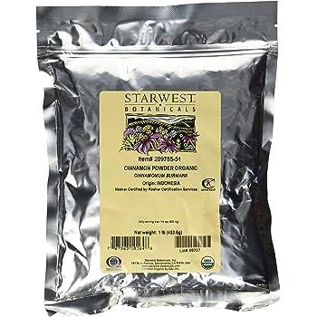 Starwest Botanicals Organic Cinnamon Powder - 1 Pound - Freshly Ground Korintje Cinnamon