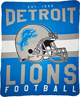 The Northwest Company NFL Detroit Lions Singular Printed Fleece Throw, Blue, 50