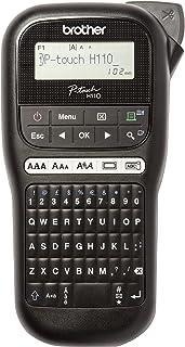 Brother PTH110 - Rotuladora electrónica de mano con diseño ergonómico para el hogar y la oficina, con teclado QWERTY