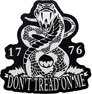 Firehouse Graphics Reflective Don't Tread on Me Gadsden Flag Rattlesnake We The People Decal Vinyl Sticker 2a Second Amendment Patriot American Flag Constitution