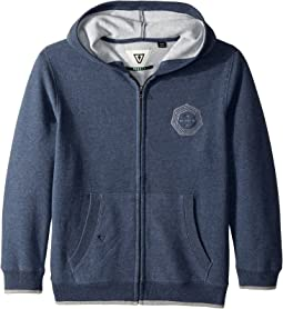 VISSLA Kids - Waverly Full Zip Hooded Brushed Fleece (Big Kids)