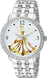 Disney Women's Princess Analog-Quartz Watch with Alloy Strap, Silver, 20 (Model: WDS000231)