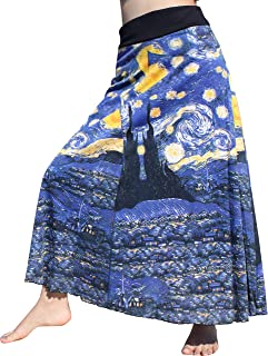 RaanPahMuang Vincent Van Gogh The Starry Night Long Patch Skirt