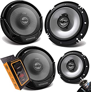 """2 Pairs of Kenwood KFC-1666S 600W Max (60W RMS) 6.5"""" KFC 2-Way Coaxial Car Speakers (4 Speakers) with Gravity Magnet Phone... photo"""