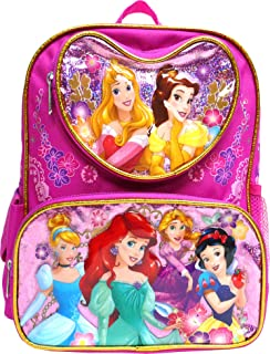 "Disney Princess Mermaid & Snow White 16"" Large Backpack- 17551"