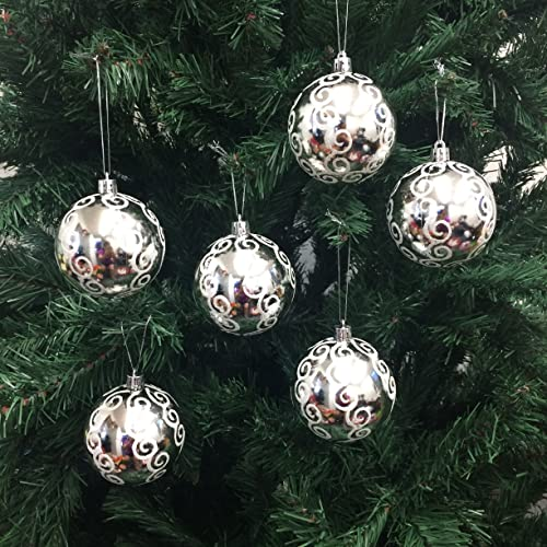 White And Silver Christmas Ornaments Amazon Com