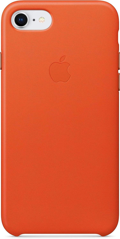 Apple Leather Case (for iPhone 8 Plus/iPhone 7 Plus) - Bright Orange